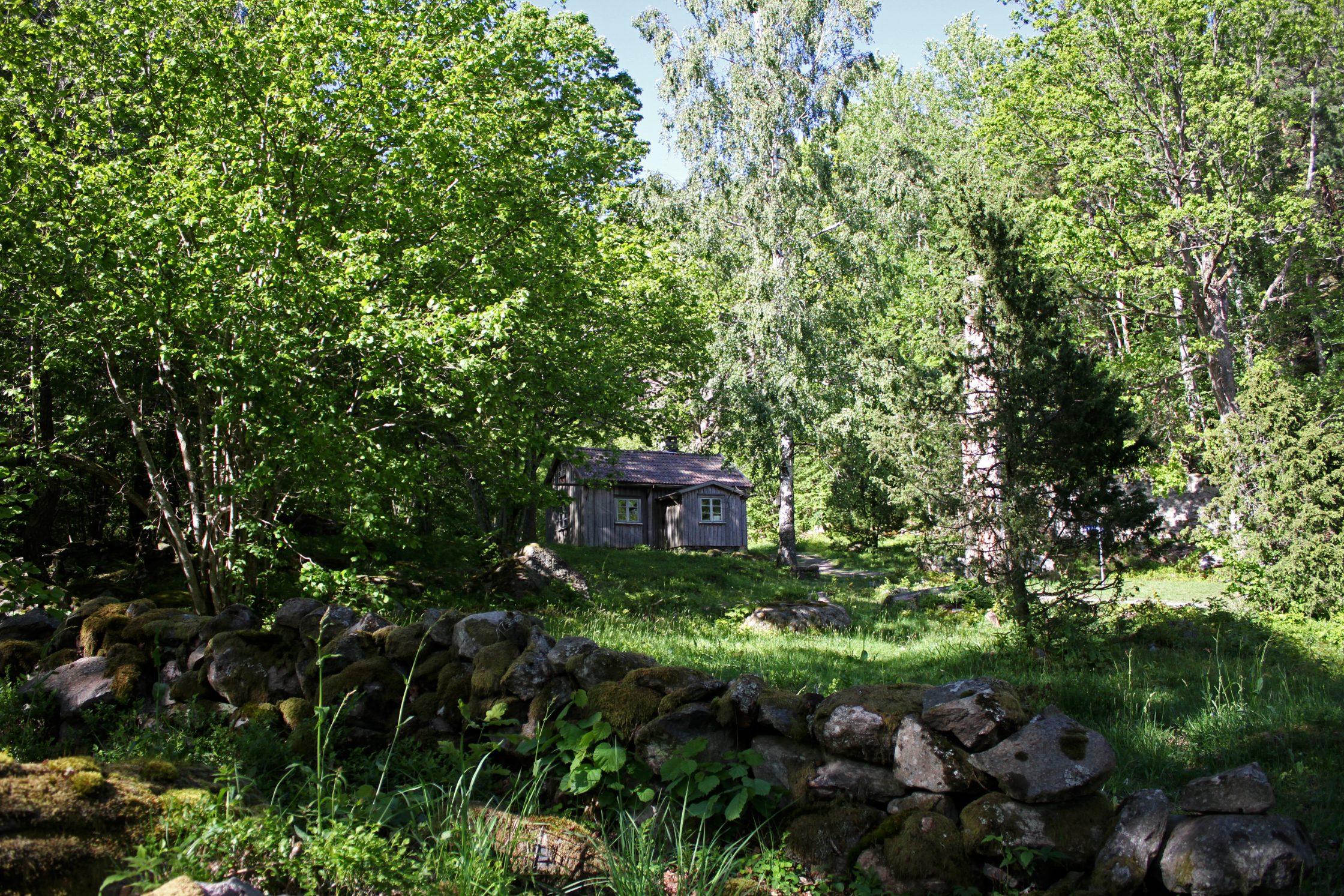 Stuga i Brobacka naturreservat.