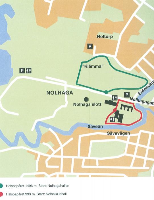 Markerad led för Hälsospåret Nolhaga