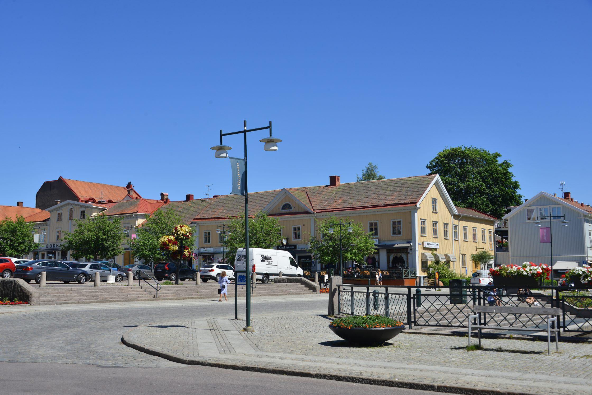 Vy över gatan framför Stora Torget.